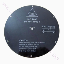 Free Shipping, 3D printer aluminum plate round hot bed/Delta rostock heatbed/MK3 reprap heating bed, Thickness 3mm