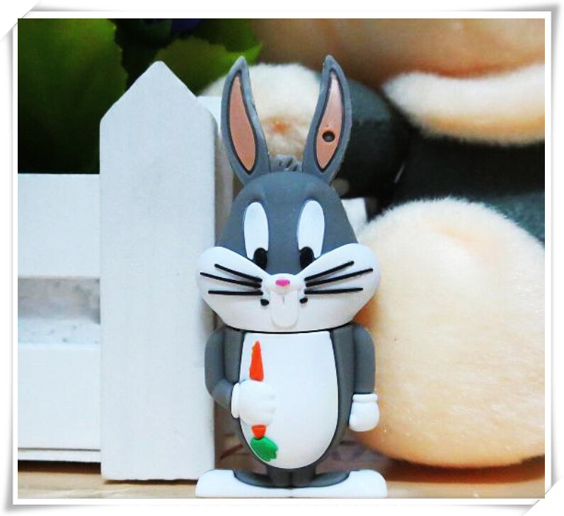 100% real capacity USB  2g/4g/8g/16g fashion duck /rabbit /bear   cartoon usb flash pendrive gift pen drive  S549<br><br>Aliexpress