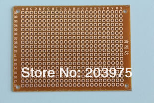 5s 5*7CM single side pcb Prototyping PCB Printed Circuit Board Prototype Breadboard Stripboard - Ekape(HK storesecurity technology co.,limited)