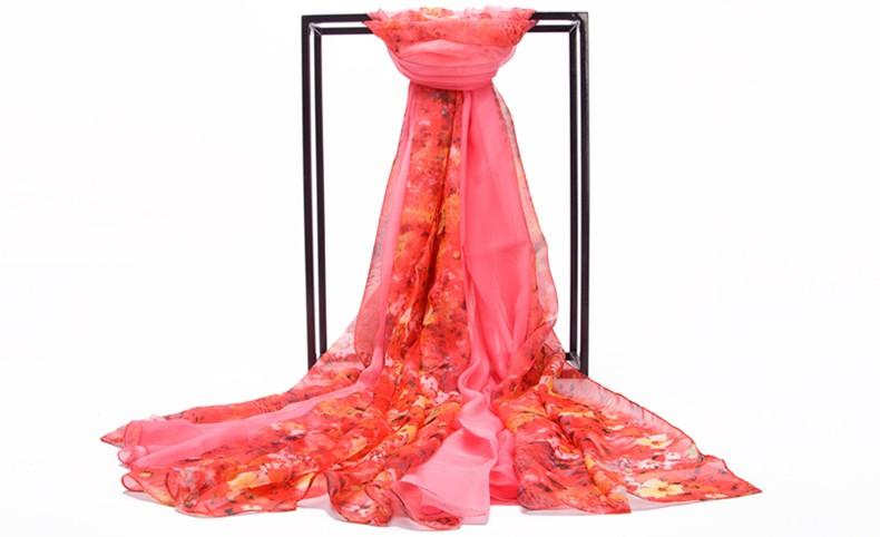 Autumn Winter Women Fashion Silk Scarf Wraps Hot Sale Ultralarge Thermal Long Scarf Cape Super Large Chiffon Scarf Shawl