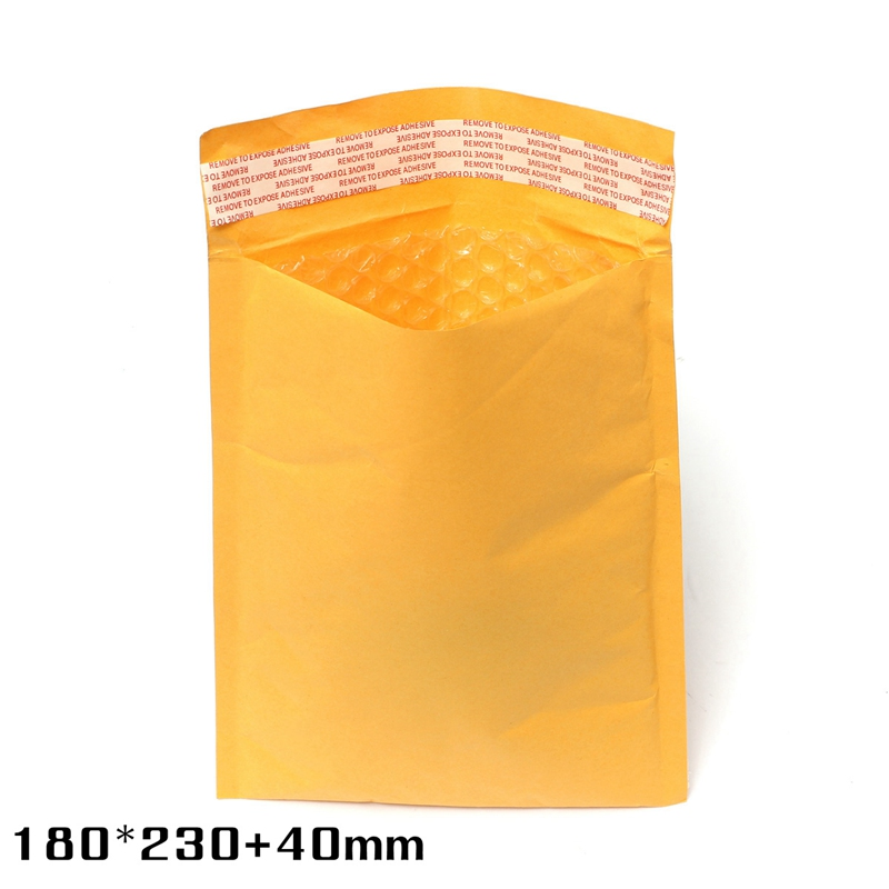 180*230+40mm Brand New Kraft Bubble Envelopes Padded Mailers Self-Seal Bags Packing Post(China (Mainland))