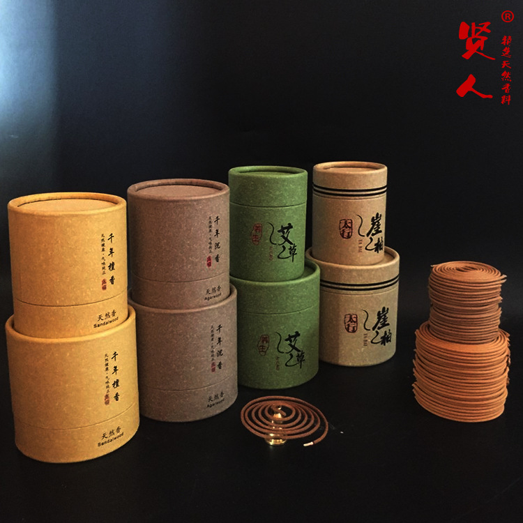 Natural Sandalwood Coil Incense 2 Hours 4 Hours Natural Incense Natural Plant Material Usein The Study Living Room Teahouse(China (Mainland))