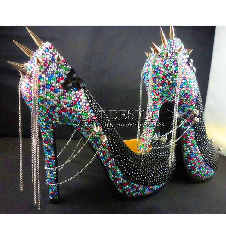 Online Buy Wholesale heel silver spikes from China heel silver