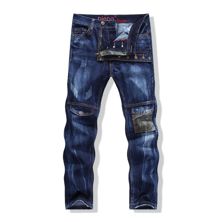 European American Style 2015 New Fashion Brand Luxury Quality Men 39 S Casual Denim Trousers