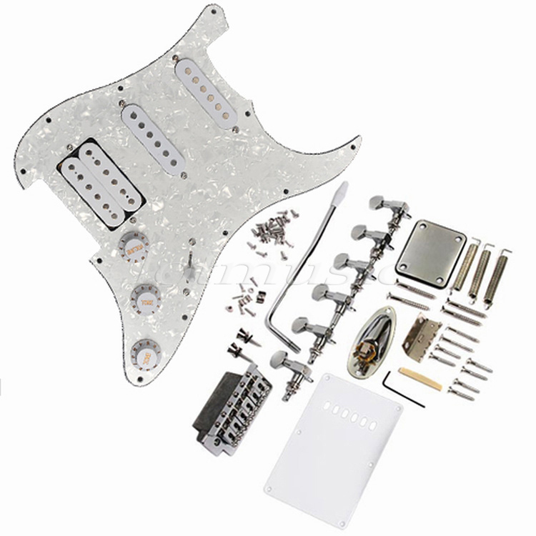 1 Set new COMPLETE Loaded Pickguard w/ Pickups Bridge Tuner Plates for FD Strat(China (Mainland))