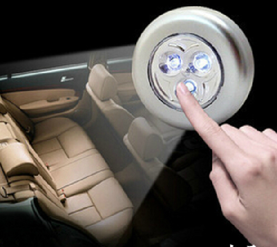 3 LED Touch Car boot emergency light Automotive Interior Night Lights drop shipping(China (Mainland))