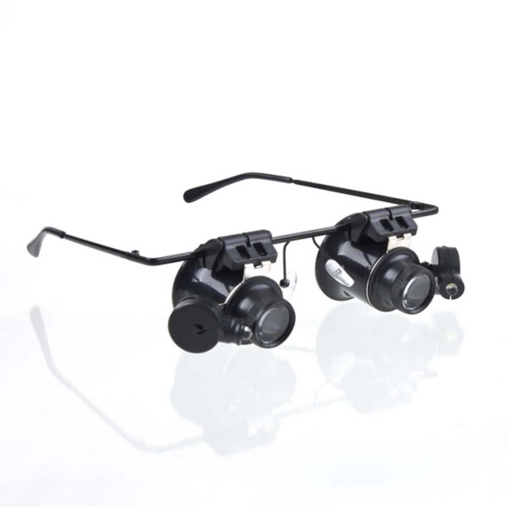 Гаджет  1pcs Watch Repair Glasses Style Magnifier Loupe 20X With LED Light Free Shipping None Инструменты