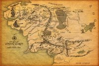 """01 Map of Middle Earth Lord Of The Rings Wall Sticker 36"""" x 24"""" inch Wall Poster"""