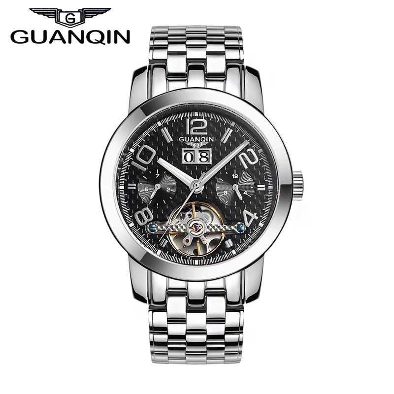 Original GUANQIN Tourbillon Automatic Mechanical Watches Men Top Brand Luxury Waterproof Men Watches Relogios Masculino Relojes