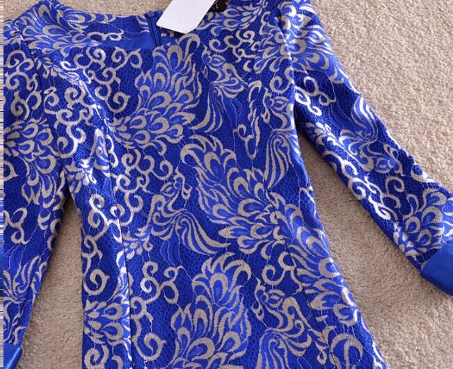 Женщины платья новые осень зима платье тонкий кружевной высокое качество управления Элегант vestidos femininos партия платья плюс размер ph2263