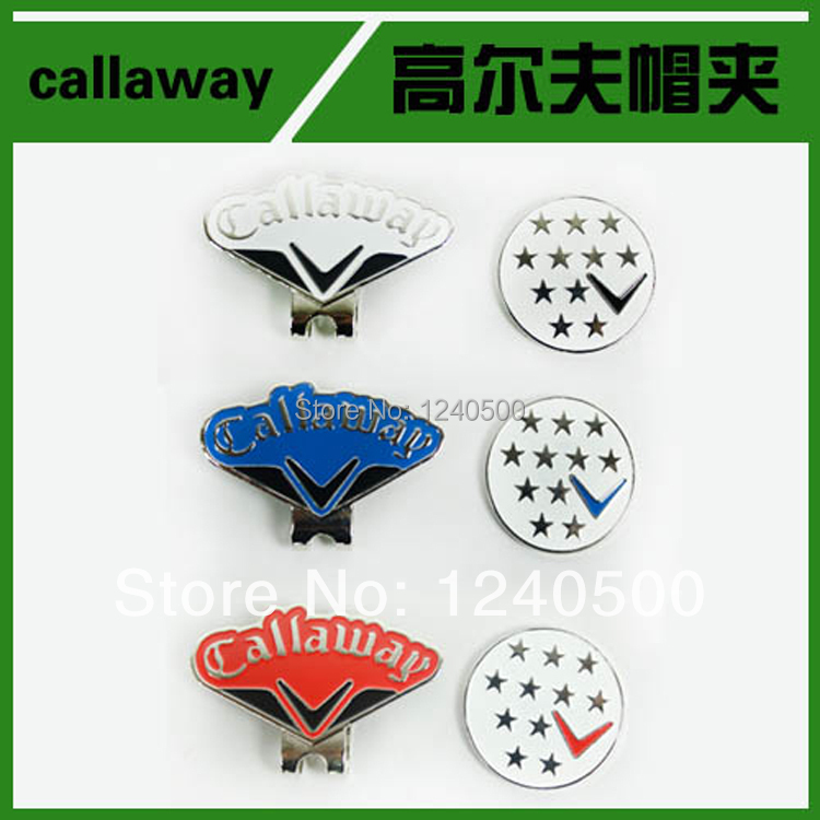 Free Shipping 3pcs/lot Brand Name New Fine Metal Alloy Golf Cap Clip Golf Hat Clip Golf Ball Marker, Wholesale Price(China (Mainland))