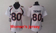 A+++ Women ladies stitched Denver Broncos ladies 18 Peyton Manning 58 Von Miller 88 Demaryius Thomas 87 Eric Decker 80 thomas(China (Mainland))