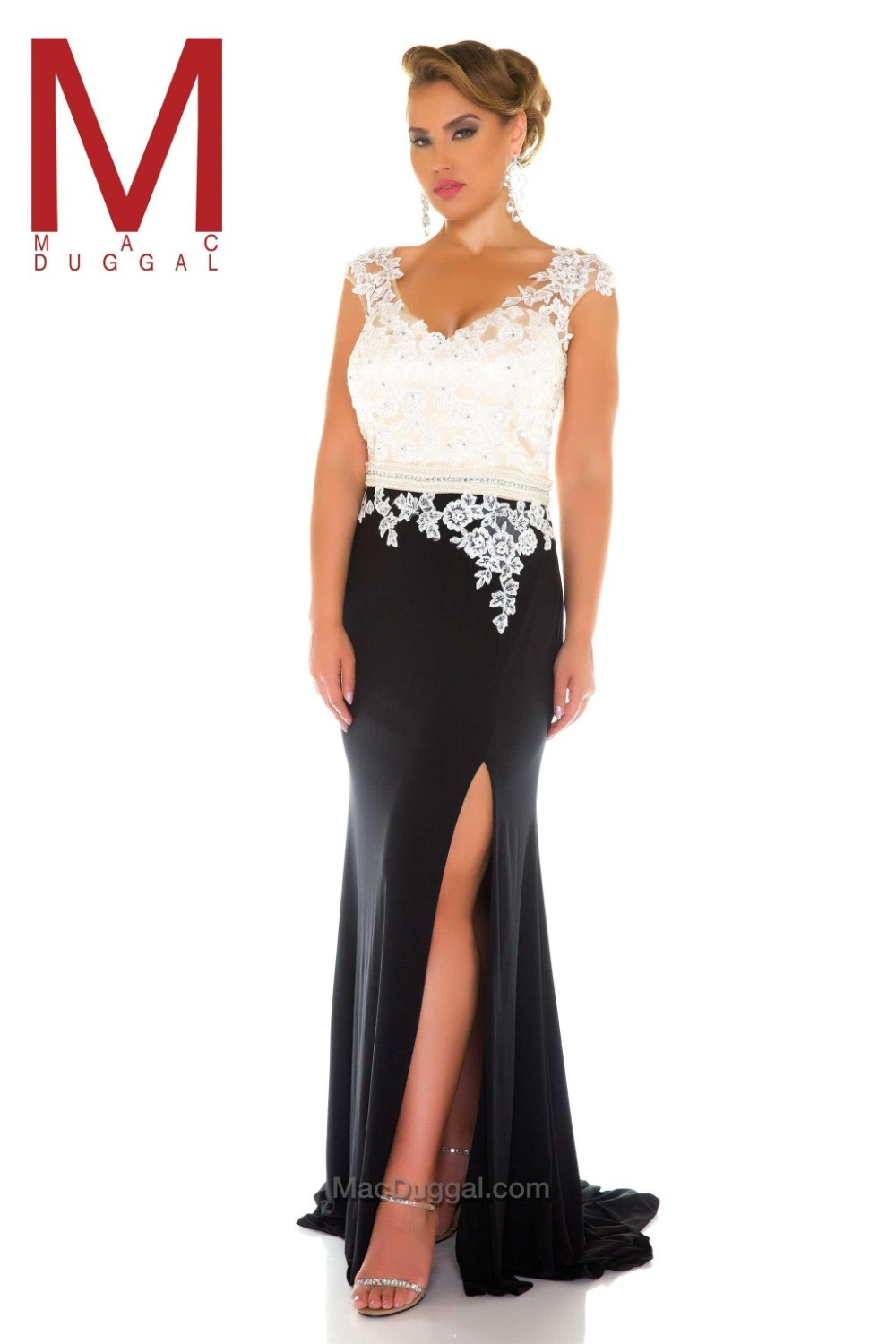 long evening dresses black and white plus size prom dresses