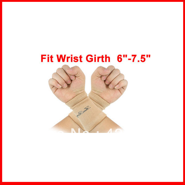 2 Pcs Pullover Design Assured Soft Textured Elastic Wrist Brace Support(China (Mainland))