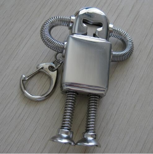 Metal USB2.0 8/16/32/64GB Robot USB Flash Drive 128GB 512GB Creativo Pendrive 2TB 1TB Memory Stick Pen Drive 64GB Cool Gift 2.0(China (Mainland))