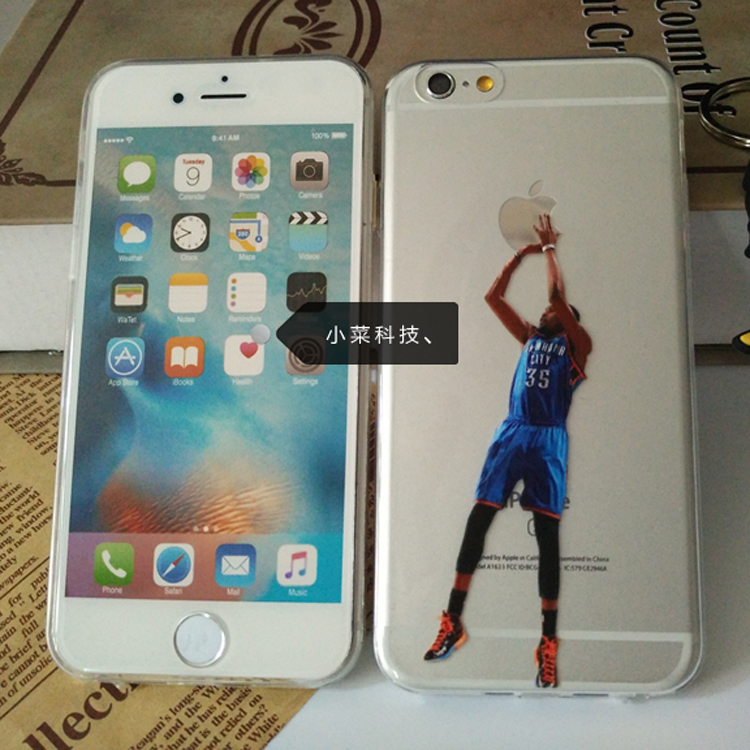 Hot New Fundas NBA Basketball Star KD Durant Case Phone Cover for iPhone 6 6s 55s 7 Plus Case Silicone Soft TPU Gel Capa Coque(China (Mainland))
