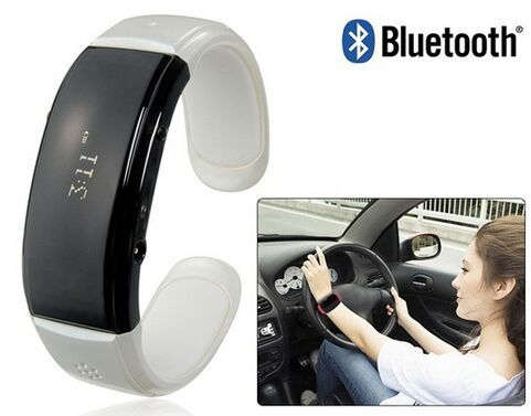 BT08 Bluetooth Bracelet with Incoming Call Display, Call Answering & Anti-Lost Function (White)(China (Mainland))