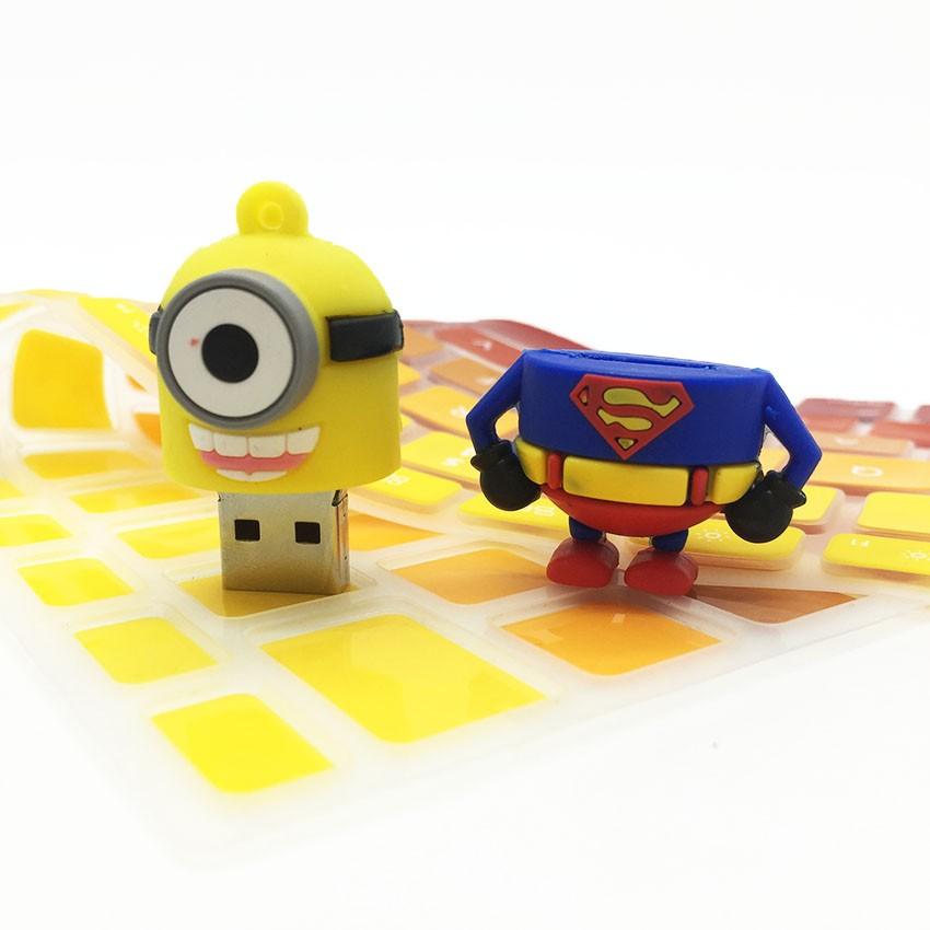 Disk USB Stick Memory Pendrive Stick Storage Device Minions Superman Hero Pen Drive 128GB 64GB 32GB 16GB 8GB 4GB USB Flash Drive