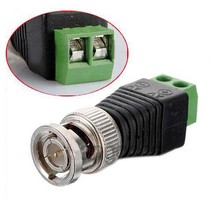 Shopping Time 2 X CAT5 To Coax Coaxial Camera CCTV BNC TV Video Balun Cable Connector