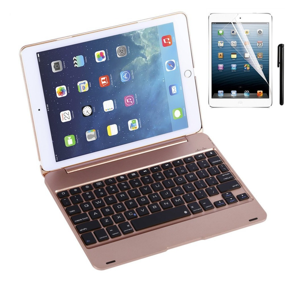Kemile Slim Smart Folio Case Wireless Bluetooth Keyboard Case Cover with Auto Sleep / Wake for iPad Pro 9.7 and iPad Air 2(China (Mainland))