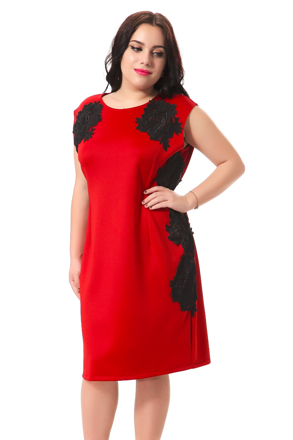 plus size red party dresses