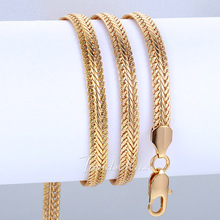 6mm Yellow/Rose/White Gold Filled Necklace Snake Bone Chain Necklace Mens Chain Necklace Wholesale 24inch LGNM29(China (Mainland))