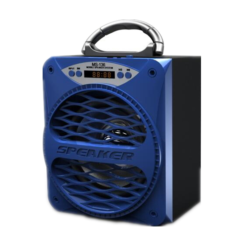 MS-136BT Big Portable Bluetooth Speaker Bass Powerful Wireless Subwoofer Outdoor Music Box Speakers USB LED Light TF FM Radio(Hong Kong)