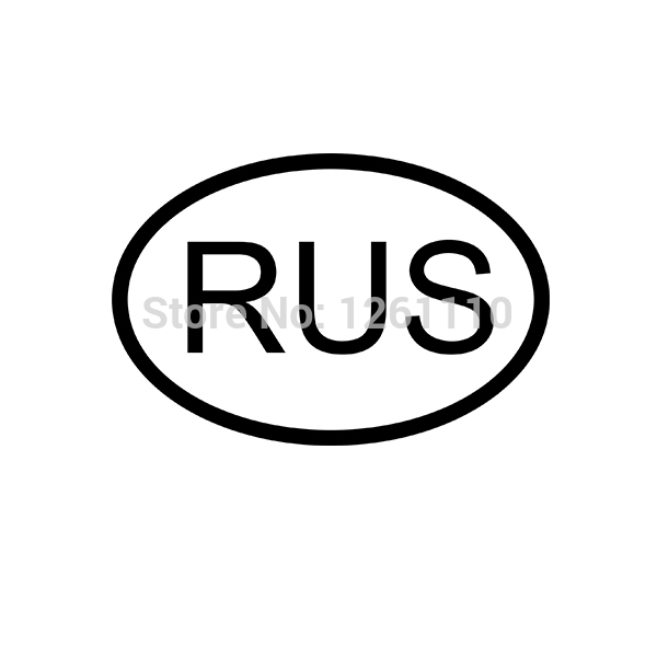 40 pcs/lot 10 Colors RUS RUSSIA COUNTRY CODE Oval JDM Vinyl Sticker lettering Car Truck Bumper Decal Motorcycle Aufkleber(China (Mainland))
