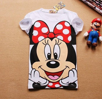 21 Colors T shirt New Brands Cartoon Mouse White Cotton Women T shirts Flag Owl Duck Cute Casual Tops Ladies Hot Sale Tees 1187