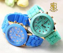 2016 Top Brand White Geneva Watches Quartz Watch Women Reloj Women Dress Watches man Silicone Wristwatches