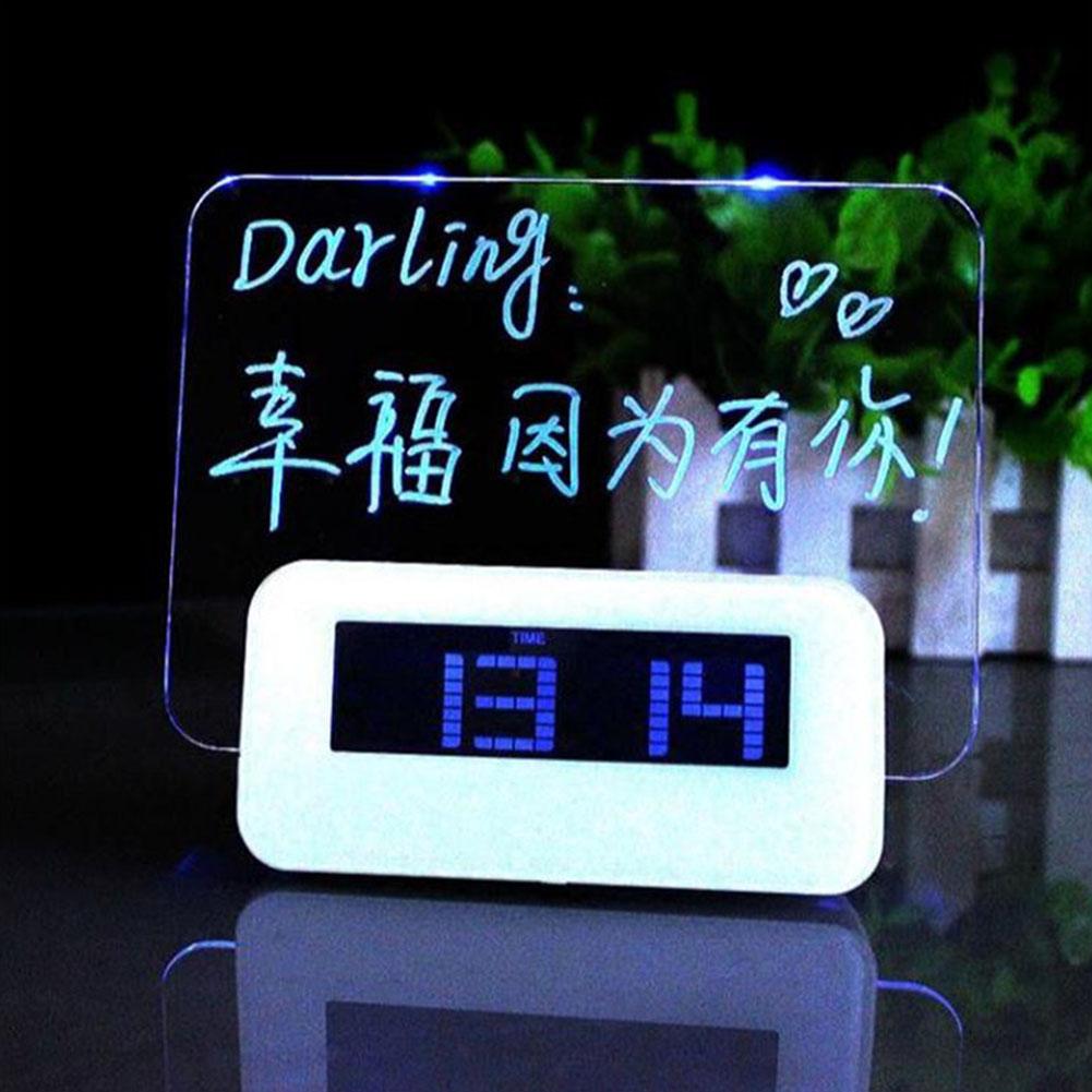Флуоресцентные многофункциональные часы с будильником УФ подсветкой Unqiue aeProduct.getSubject()
