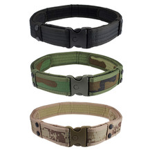 New Woodland Camo Waistband belt Tactical Hunting Outdoor Sports Field Military belt sale(China (Mainland))
