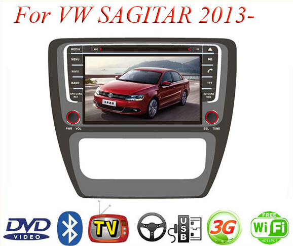 Автомобильный DVD плеер Made in china 2 Din DVD/volkswagen VW sagitar/gps TV 3G WiFi Bluetooth автомобильный dvd плеер joyous kd 7 800 480 2 din 4 4 gps navi toyota rav4 4 4 dvd dual core rds wifi 3g