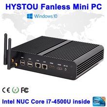 Gen 5/4 CPU Intel NUC Core i7 4500U Fanless Barebone Intel Core i5 5200U/4258U Mini PC Windows 10 HTPC ITX Case Mini PC Dual LAN(China (Mainland))