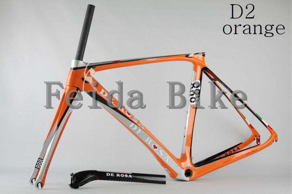 2015 NEW de rosa 888 super king Carbon ROAD Bike frames COLOR D2 orange ,extinction,bright finish(China (Mainland))