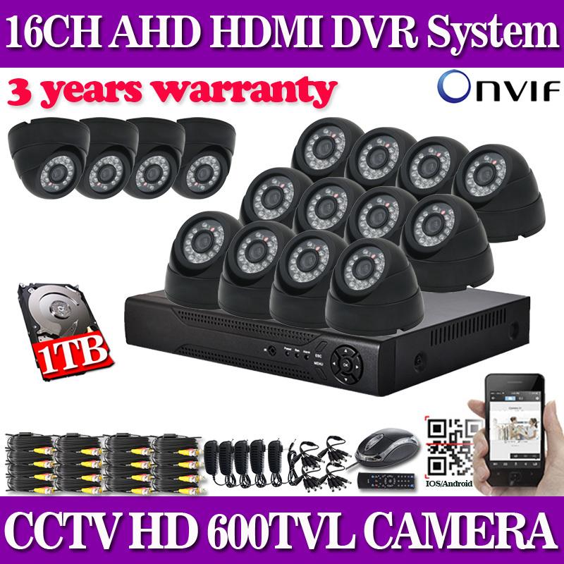 16 channel home security 600TVL video surveillance outdoor camera kit CCTV HDMI 1080P DVR recording CCTV system 16ch<br><br>Aliexpress