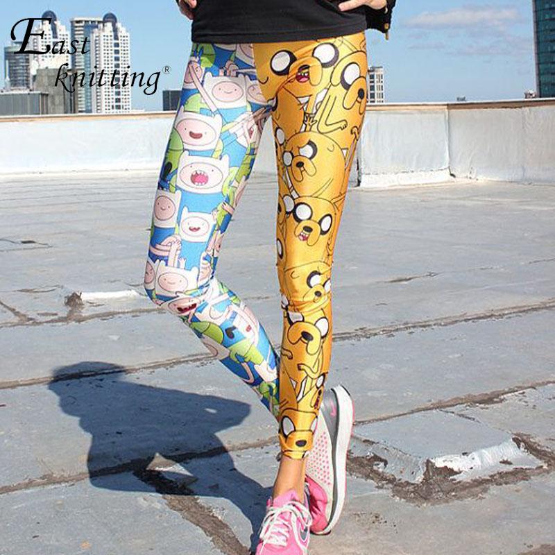 EAST KNITTING X-041 Adventure Time Women Leggins Burned Velvet Leggings Black Leggings Print Legging Fitness Plus Size(China (Mainland))