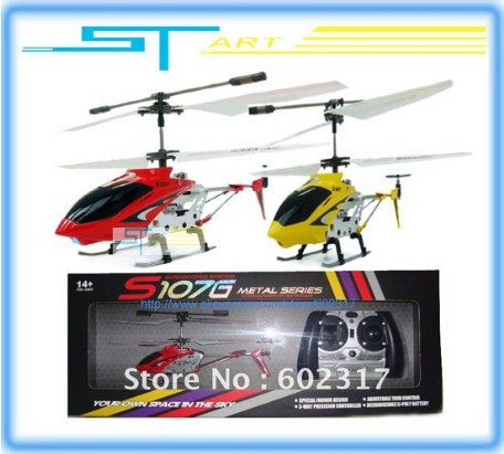 Free Shipping hot selling Whoelsale - 3PCS Syma S107G Metal Gyro 3ch Mini Micro RC Helicopter RTF / flash lights USB Ch Toy kids(China (Mainland))
