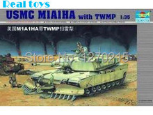 Buy Trumpeter model 00335 1/35 U.S.M.C M1A1HA TWMP mine plow for $15.00 in AliExpress store