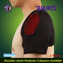 Self-Heating Shoulders Support Brace Magnetic Therapy Shoulders Covered Pads Medical Relieve Pain Double Shoulders Protector(China (Mainland))
