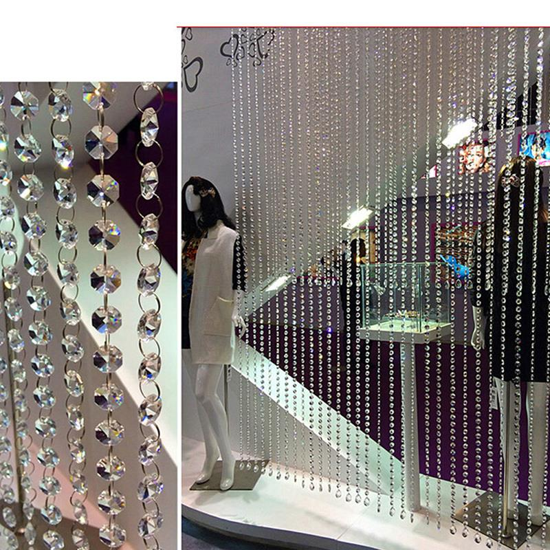 DIY Decor Diamond Acrylic Crystal Beads Curtain Strand Garland Window Scarfs Wedding(China (Mainland))