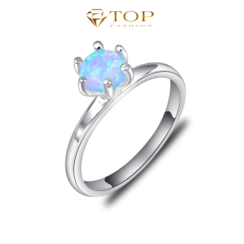 Top Jewelry 2016 New Arrival Classical Opal Gem Ring Best Mother's Day Gift Bijoux R0243(China (Mainland))