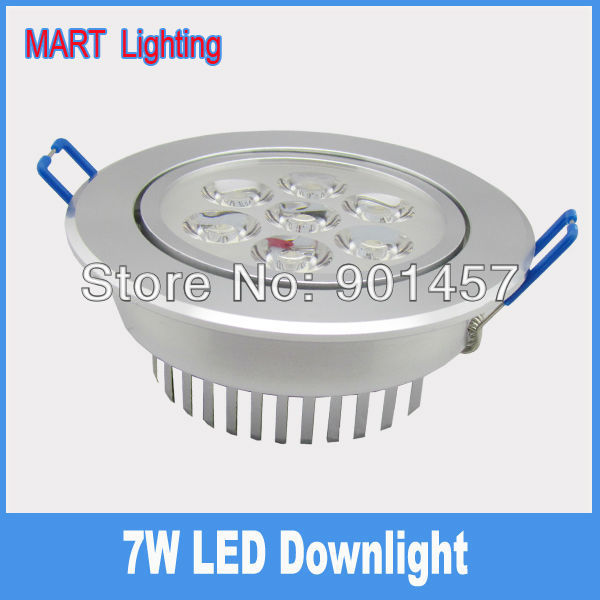 High power 7w led jewelry display ceiling down light warm commercial living room lighting