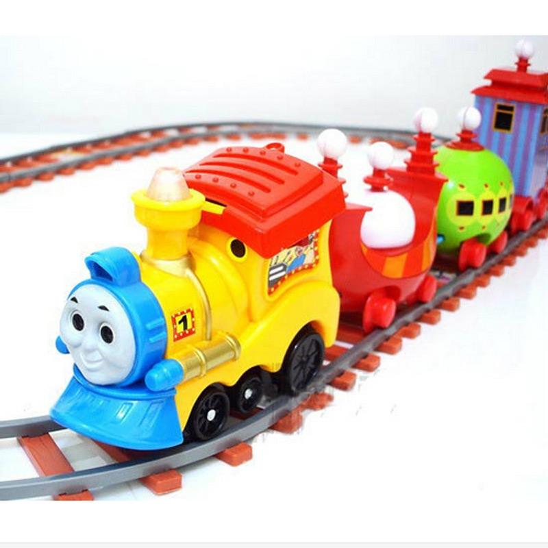 2016 New DIY Thomas Trains Set With Rail Electric Track Toy Thomas Train for Boys Kids Trackmaster Thomas Model Brinquedos(China (Mainland))