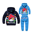 cute causal boy hoodie sweatshirt pants set lovely angry cartoon bird set for 2 10yrs boys