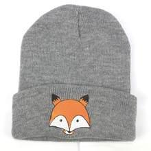 ฤดูหนาวเด็กหมวกเด็กแฟชั่นหมวกเด็กอบอุ่นหมวก Fox ถัก Hemming หมวก(China)