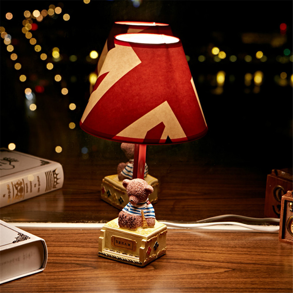 1 Pcs DIY Modern Cute Bear Table Lamp Lampshade Living