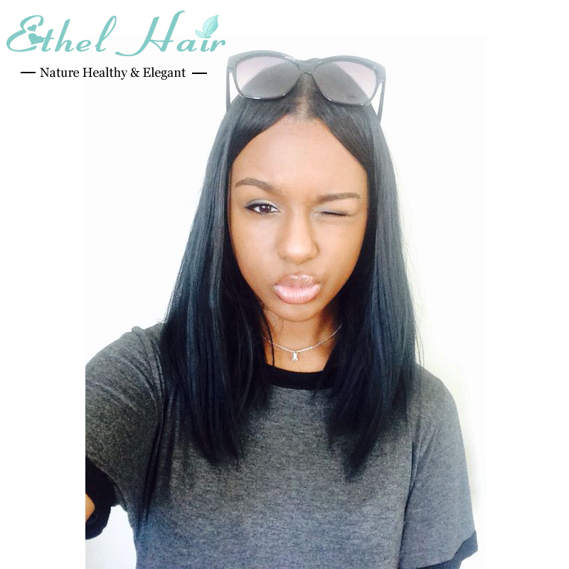 Здесь можно купить  Unprocessed Silky Straight Glueless Full Lace Human Hair Wig Virgin Brazilian Lace Front Wig With Baby Hair Around Bleached Knot Unprocessed Silky Straight Glueless Full Lace Human Hair Wig Virgin Brazilian Lace Front Wig With Baby Hair Around Bleached Knot Волосы и аксессуары