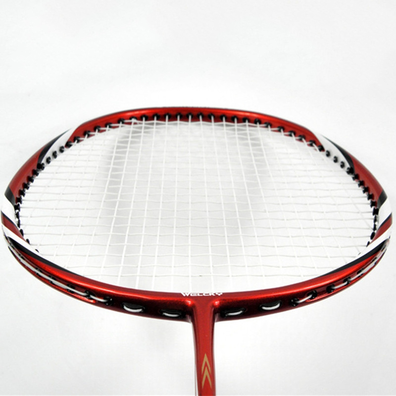 Brand High-end carbon-aluminum indoor/outdoor sports badminton racket eight color film sets 2 loading line badminton rackets(China (Mainland))