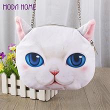 Big Discount Cute Mini Bag for Women Cat Animal Print Crossbody Bag Zipper Closure Small Shoulder Chain Bag Messenger Bag(China (Mainland))